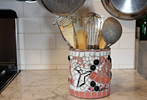 Mosaic Kitchen Utensil Holders